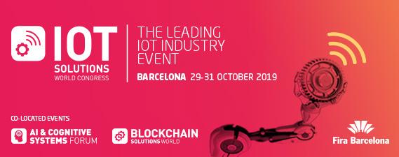 IOT SOLUTIONS WORLD CONGRESS - Barcelona, del 29 al 31 de Octubre de 2019